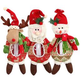 vecchie figurine Sconti 2018 Santa Snowman Apple Bag Old Man Alce Figurina Caramella Barattolo Sacchetto regalo di Natale Decorazione natalizia Statuina Candy