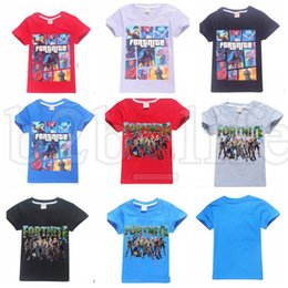Wholesale wholesale kids tees - Kids Fortnite Tee Tops Children Summer Clothes Short Sleeve T-shirt Girls T Shirts Clothing Summer Fortnite tee KKA5446