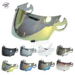 9172a6b7 helmet face lens Promo Codes - 8 Colors Gold Iridium Motorcycle Full Face  Helmet Visor Lens