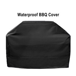 Wholesale charcoal electric - Gas Grill Cover Waterproof BBQ Grill Barbeque Cover Outdoor Rain Grill Anti Dust Protector For Heavy Duty Gas Charcoal Electric Barbecue Bag