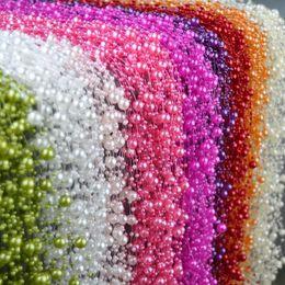 246 pieds rouleau Ivoire perle ficelle partie guirlande de mariage centres de table de mariage bouquet artisanat décoration (perle) ? partir de fabricateur