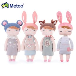 Wholesale Metoo Rabbit Doll - New Arrival Genuine Metoo Angela Rabbit Dolls Bunny Baby Plush Toy Cute Lovely Stuffed Toys Kids Girls Birthday Christmas Gift