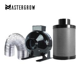 filtro do ventilador Desconto MasterGrow 4/5/6/8/10 Polegadas Ventiladores CentrífugosAtivado Conjunto De Filtro De Ar De Carbono Para Hidroponia Interior Crescer Tenda Estufas Crescer Luz