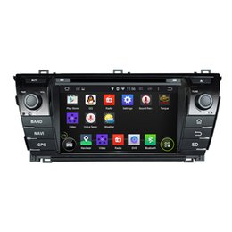 Wholesale dvd corolla touch screen - Car Audio Player Octa Core 1024*600 Android 6.0 Car DVD GPS Navigation Multimedia Player Car Stereo for Toyota Corolla 2014 Radio Bluetooth