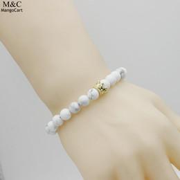 2019 kronenförmige perlen Form lässig Unisex elastische geometrische Armband Krone Perle günstig kronenförmige perlen