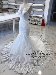 Сексуальные старинные кружевные платья русалки свадебные платья 2019 реальные изображения плюс размер арабский африканский нигерия кружева стиль Vestido Novia свадебные платья от