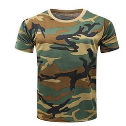 camisa de combate verde Rebajas Nuevo Camuflaje Camiseta Hombre Ejército de Respiración Táctica Combate Camiseta Militar Seco Camo Camp Tees ACU Verde