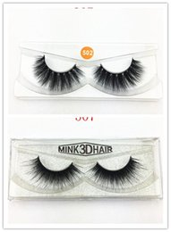 Wholesale wool strips - Sexy 100% hand 3D mink hair beauty thick solid mink wool false eyelash high quality free delivery
