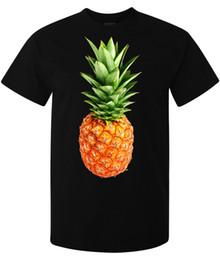 Art sain en Ligne-Ananas art sain alimentaire exotique alimentaire hommes élégants (femme disponible) t-shirt noir