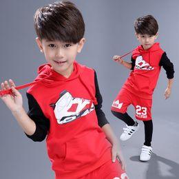 Wholesale street dance costumes - 2018 Boys Hip-hop Hoodie and Pant Sets Girls Street Dance Clothes Kids Hip Hop Costumes Dance Wear Children Sport Suits