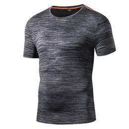 2019 impressão de vidro barato 2018 Verão Mens Quick Dry Lazer Esporte Camping Correndo T Camisa de Pesca Ao Ar Livre Caminhadas T-shirt Dos Homens O-pescoço T-shirt de Manga Curta