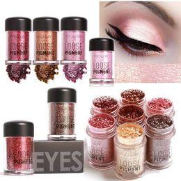 Wholesale eyeshadow loose pigments - FOCALLURE Loose Glitter Eyeshadow Powder 12 Colors Cosmetic Eyes Makeup Pigment Powder Mineral Diamond Shimmer Eye Shadow free ship