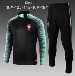 197e51456e296 2018 Kids RONALDO chándal de fútbol 18-19 niño PEPETrante traje pantalones  ropa de entrenamiento de fútbol ropa deportiva para hombre suéter barato  ropa de ...