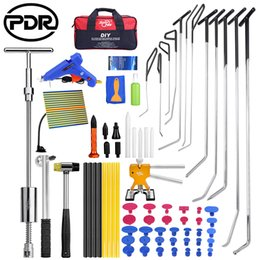 kleber dent puller Rabatt PDR Rods Haken Werkzeuge Paintless Dent Reparatur Auto Dent Removal Reflektor Board Dent Puller Lifter Klebepistole Tap Down Tool