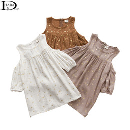 Wholesale Coffee Color Dresses - Super light stars baby girl dress 1-5 years, summer fashion children dress ,white, gray,coffee , sweet kids clothes HB0768