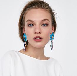 Wholesale ethnic earrings sale - Hot Sale Trendy Fashion Brand Long Flower Crystal Dangle Drop Earrings Tassel Earrings Ethnic Jewelry