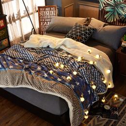 biancheria da letto in oro rosa Sconti Vermiglio ermellino in oro rosa e bianco / berbero Coperta in tessuto in pile, copriletto spesso multi-size sul letto, coperta in flanella morbida