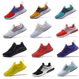 Wholesale Men Safari - High Quality Air Presto QS Running Shoes Men Gold Safari black white yellow Ultra Breathe BR Boost Jogging Sneakers sport shoe eur 40-45