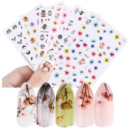 Wholesale Elegant Nail Tips - China 3d stickers Suppliers 1 Sheets 3D Sticker Mixed Flower Elegant Sticker Nail Art Adhesive Craft Tips DIY Beauty Charm