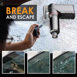 Пружина автомобильного зарядного устройства онлайн-Быстрое зарядное устройство 3 в 1 USB автомобильное зарядное устройство ремень безопасности резак аварийный молоток подпружиненный стекло выключатель бритвы острый