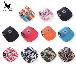 Wholesale Pet Dog Caps - 2018 Pet Dog Hat Baseball Hat Summer Canvas Cap Only For Small Pet Dog Outdoor Accessories Outdoor Hiking Sports