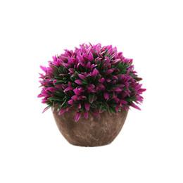 Wholesale Fake Flower Balls - Artificial Plants Ball Bonsai Fake Flowers Decorative Plants For Home Decoration Garden Decor With Vase