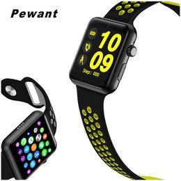 gv18 водонепроницаемые часы Скидка Pewant DM09 Plus Smart Watch Android iOS Wristwatch Support SIM Card Smartwatch For  PK IWO 2 3 IWO 5 6 Watch