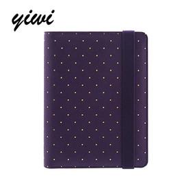 Cuaderno morado online-Agenda YIWI 2017 Púrpura NotA5 A6 A7 Planificador Kawaii Diy Diary Escuela linda inmóvil Oro blanco Dot cuadernos dokibook