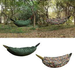 Hamaca ligera online-Saco de dormir multifuncional de la hamaca que acampa 200 * 75cm Hamaca al aire libre Edredón ligero de Underquilt Packable debajo de la estera manta OOA5643