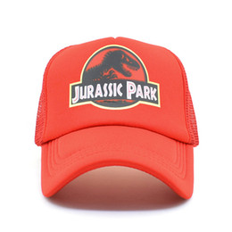 78ea8b06425 Jurassic Park Dinosaur Trucker Caps Adjustable Jurassic Park Women Cool  Summer Cool Mesh Baseball Caps Hats supplier dinosaur hats
