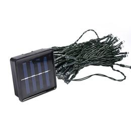 Luces solares de cadena para árboles online-50 -100 Leds Energía solar Luces de hadas Iluminación navideña Fiesta de Navidad 4 .5 -10 M Jardín Árbol Decoración Lámpara de cadena