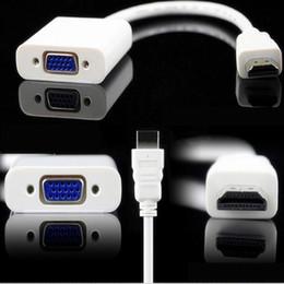 2019 video análogo Adaptador de HDMI a VGA HDMI Macho a VGA Conversor de video femenino 1080P Audio digital a analógico para PC Portátil Proyector de tableta video análogo baratos