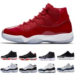red high shoes Promo Codes - High Quality 11 Space Jam 2018 Best Quality Bred Gama Blue Basketball Shoes Men 11 Concords 72-10 Legend Blue Cool Grey Designer Sneakers