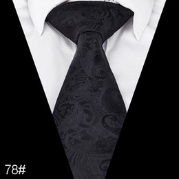 black red weaves Promo Codes - Paisley Floral Ties for Men Formal Wide Tie Neckties Jacquard Woven Classic paisley men tie Size 145*8cm