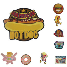 Wholesale Hot Dog Bar - Creative Vintage Metal Tin Signs Hamburgers Hot Dogs Food Painting Wall Poster Coffee PUB Bar Garage Decorative Decor Art Craft Plaques