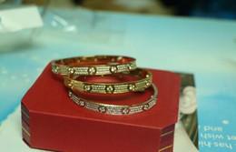 braccialetto d'ottone africano Sconti Alta qualità pieno con diamante CZ Marca Amore Vite H Bracciale donna polsino amore bracciali amore Pulseira Feminina Masculin con scatola originale