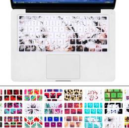 2019 marmo macbook Tastiera per tastiera in legno di granito con tastiera e tastiera in legno per Mac MacBook Pro 13 15 17 Air 13 Retina 13 layout USA marmo macbook economici