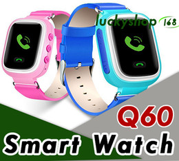 Wholesale Android Agps - 2018 kids gps smart watches children kids smartwatch GPS+ LBS + AGPS location Q60 1.0 inch color screen side insert SIM card