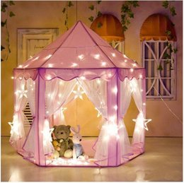 Wholesale Princess Playhouses - Children Portable Toy Tents Princess Castle Play Game Tent Activity Fairy House Fun Indoor Outdoor Sport Playhouse Toy Kids Gifts