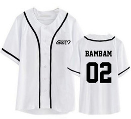 Canada Kpop got7 nom membre impression manches courtes baseball t-shirt fashion style été hommes femmes i got7 t-shirt top tees supplier baseball t shirt printing Offre