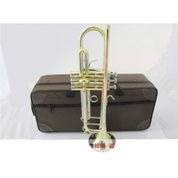 Wholesale Case Bb - TR 800G Bb Trumpet Gold and Silver Plated Brass Professional Musical Instrument For Student B Flat Trompeta With Case Mouthpiece