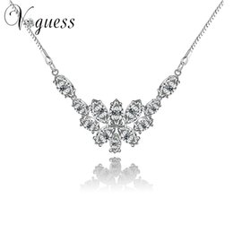 Wholesale Dimond Necklaces - VOGUESS Crystal Simulated Dimond Jewelry Necklace Wedding Party Fashion Costume Women Dress Accessories