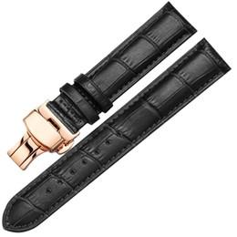 Nuevo reloj Marrón Negro Correas de reloj Correa de cuero Banda de reloj 12 mm 14 mm 16 mm 18 mm 19 mm 20 mm 21 mm 22 mm Accesorios de pulsera desde fabricantes