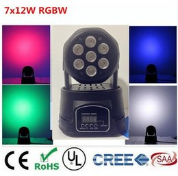 Wholesale Moving Head Light Rgbw Cree - America CREE LED led wash mini moving head light 7x12w rgbw 4in1 leds advanced DMX 9 14 channels dj band lights