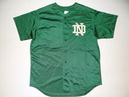 Wholesale Vintage Irish - Cheap custom vintage NOTRE DAME Baseball Jersey Button men Fighting Irish retro mesh Men Women Youth Stitched Customize any number name