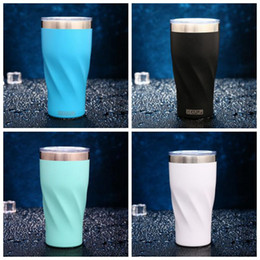 Wholesale Green Travel Mugs - 4 Colors 20oz Stainless Steel Cups Vacuum Insulated Mugs Car Travel Water Bottles Coffee Mug With Lid CCA8606 25pcs