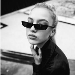 Wholesale Small Frame Sun Glasses - Vintage Rectangle Sunglasses Women Brand Designer Small Frame Sun Glasses Retro Black Eyewear