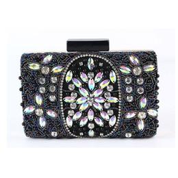 Муфты для новобрачных онлайн- Women Diamond Evening Box Bag Satin Retro Wedding Bridal Party Purse Day Clutches Chains Handbags Shoulder bag 2 Colour