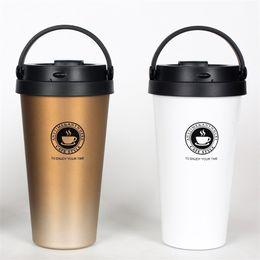 Wholesale Easy Feet Foot - Colourful Water Bottles Portable Coffee Mug Heat Resisting Tumbler Stainless Steel Vacuum Cup Easy To Clean 30st C