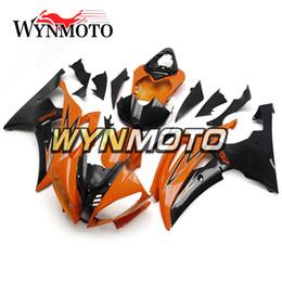 Wholesale Yamaha R6 Orange - Complete Fairings For Yamaha YZF R6 Year 2008-2016 09 10 11 12 13 14 15 16 Injection ABS Motorcycle Motorbike Orange Black Customized New